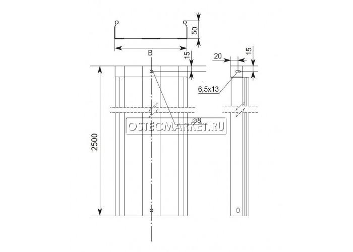 012251 Металлический лоток неперфорированный 200х50х2500 ЛНМЗТ(М)-200х50пр