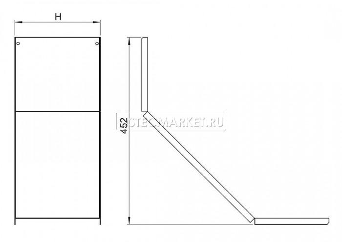 020424 Крышка к углу внутреннему для лестничного лотка НЛО 200 КУВННЛО-200