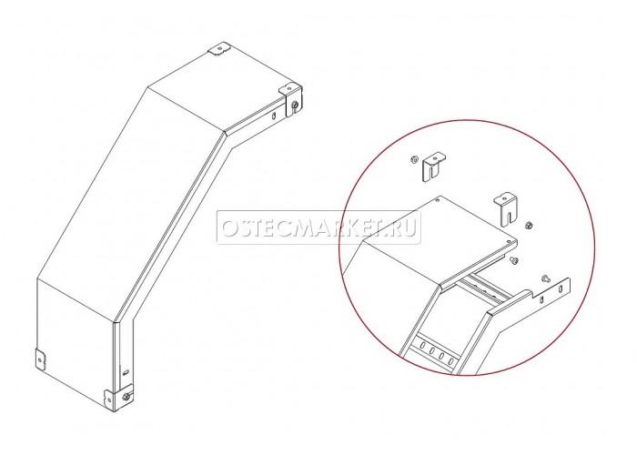 020767 Крышка к углу внешнему для лестничного лотка НЛО 600 КУВНЛО-600