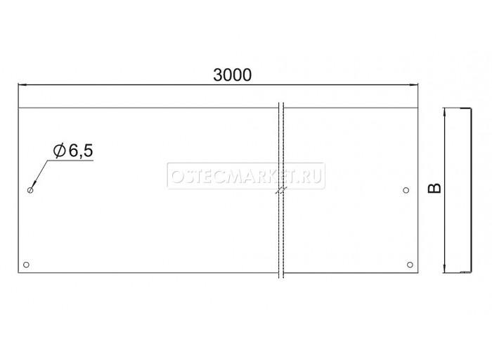 021327 Крышка к лотку ПЛК 200х15х3000 под заземление (1,0 мм) КПЛКз-200 (1 мм)