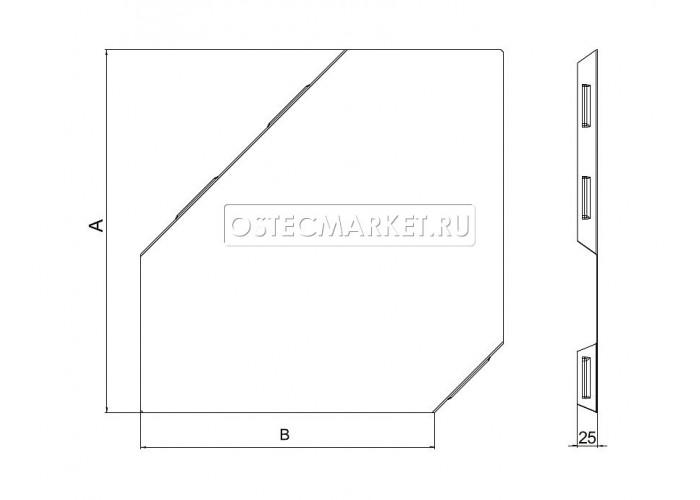 022211 Крышка к Угловому соединителю плоскому к лотку 100 КУСП-100