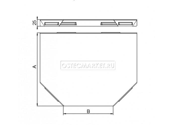 022311 Крышка к Угловому соединителю Т-образному к лотку 100 КУСТ-100