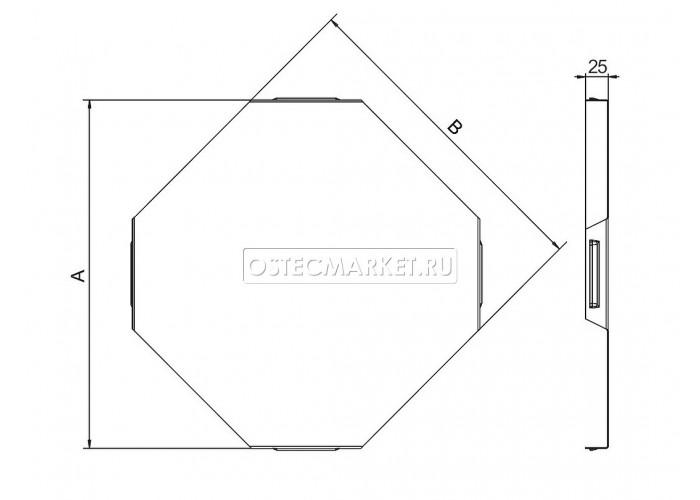 022411 Крышка к Угловому соединителю крестообразному к лотку 100 КУСХ-100