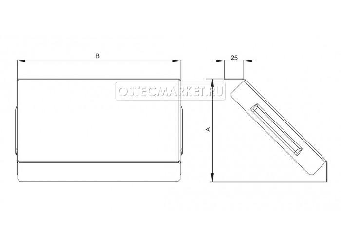 022610 Крышка к Угловому соединителю внешнему к лотку 100х100 КУСВ-100x100