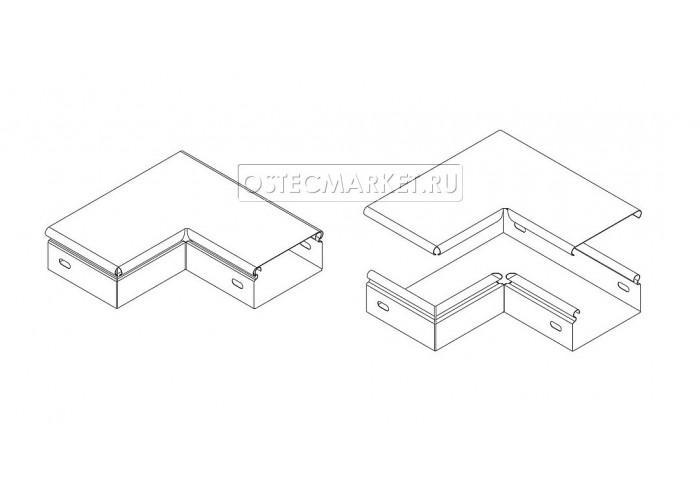 022715 Крышка к Переходу прямому левому 100х50 КРПЛ 100x50