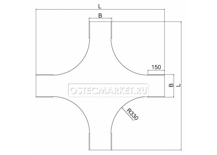 023321 Крышка к Крестообразному разветвителю для лестничного лотка НЛО 200 КХЛНЛО-200