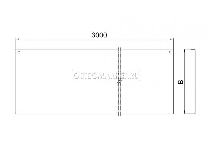 024017 Крышка к лотку ПЛК 100х15х3000 (1,0 мм) КПЛК-100 (1 мм)