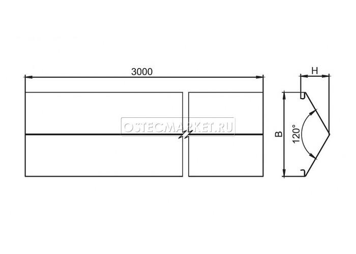 024231 Крышка двускатная к лотку 300х3000 КДЛЗТ-300х3000