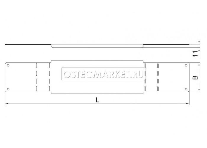 024425 Крышка к повороту вертикальному регулируемому 200х50 (1,0 мм) КПВР-200x50