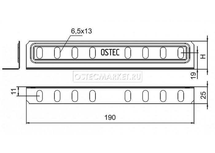 032781 Соединитель лотковый универсальный для лотка высотой 80/100 мм СЛУ-80/100