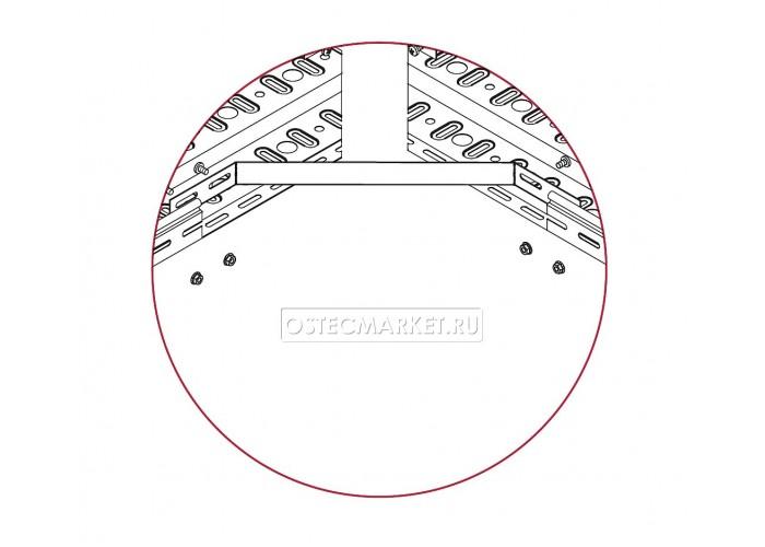 033081 Соединитель универсальный плавный для лотка h 80 1,5 мм СУП-80