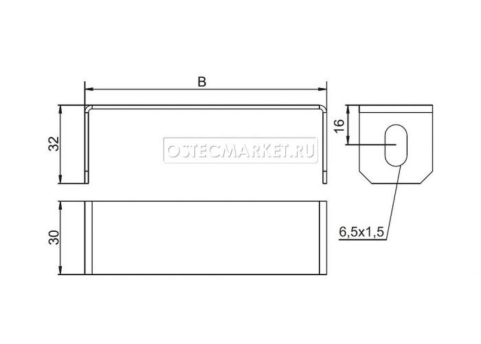 040211 Скоба внутренняя 100 мм СВ-100