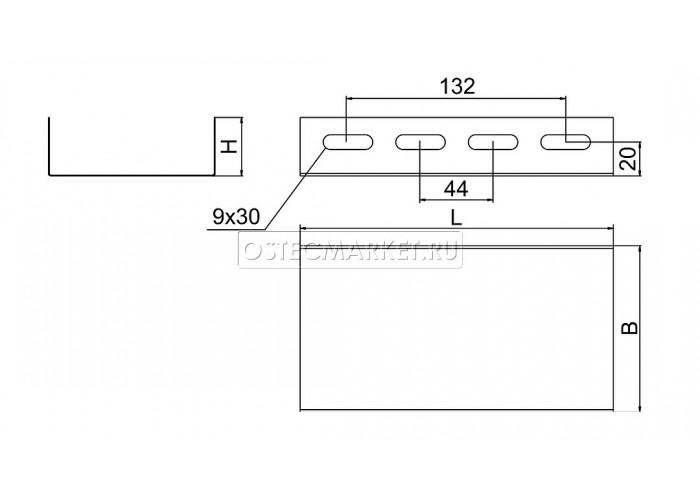 040541 Соединитель лотка боковой к лотку 400х50 СЛБ-400