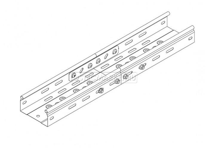 040651 Соединительная планка универсальная для лотка h 50 1,2 мм СПУ-50