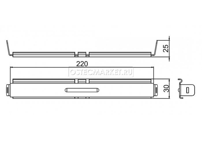 040801 Соединитель проволочного лотка безвинтовой 30х220 СПЛБ