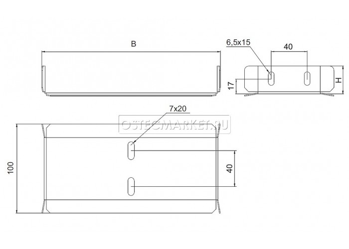 040931 Протектор-соединитель 300х100 (1 мм) ПСУ-300х100