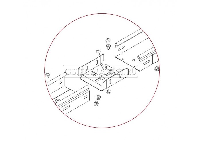 040938 Протектор-соединитель 300х80 (1 мм) ПСУ-300x80