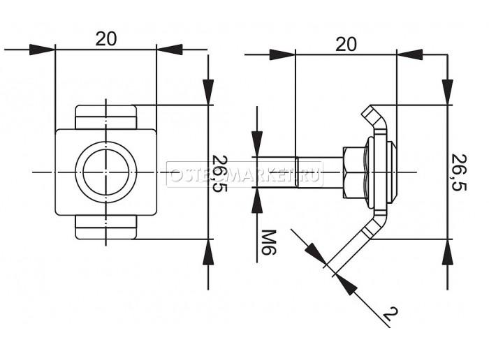 041001 Соединитель проволочного лотка 20 одинарный (крепежный комплект ) СПЛО20