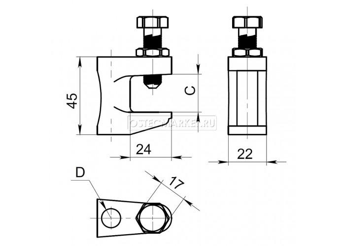 053801 Струбцина М8-10 комплект СТРф