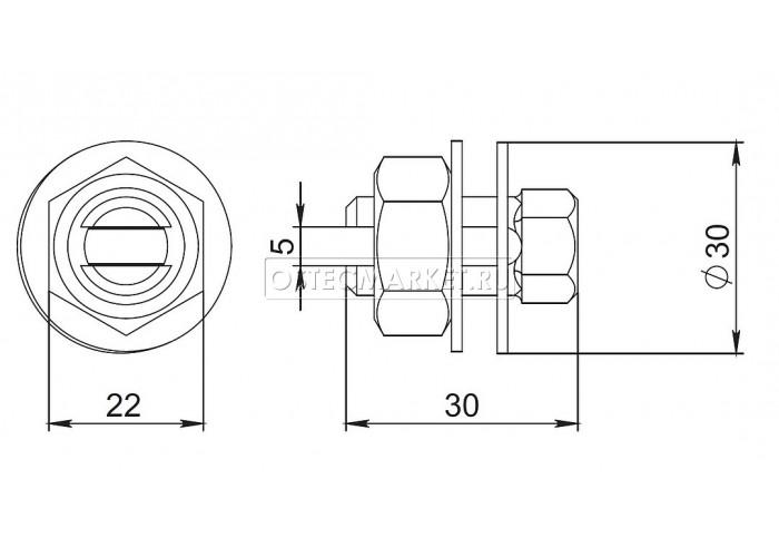 060105 Заземляющая шпилька М10 (комплект) ЗШП10к