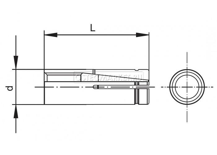 063089 Анкер забиваемый латунный М8х30 АЗМ830л