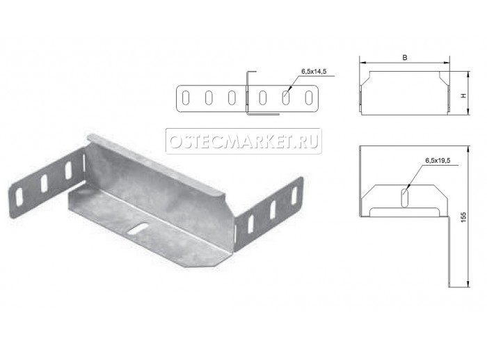 081703 Заглушка-редукция универсальная 50х100 ЗР-50х100