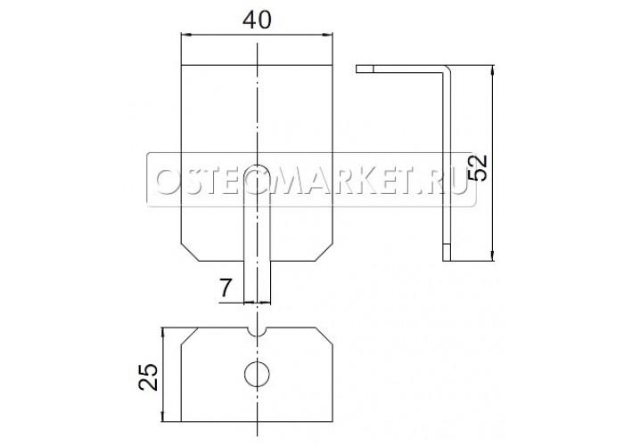 043581 Держатель крышки для лотков высотой 50, 80, 100 мм (2,0 мм) ДК-50-80-100