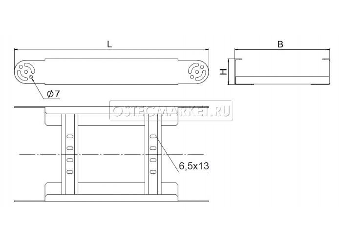 089205 Секция шарнирного соединения для лестничного лотка НЛО 500х100 СШСНЛО-500х100