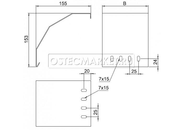 053122 Спуск кабельный для лотков НЛО 200 мм СКНЛО-200