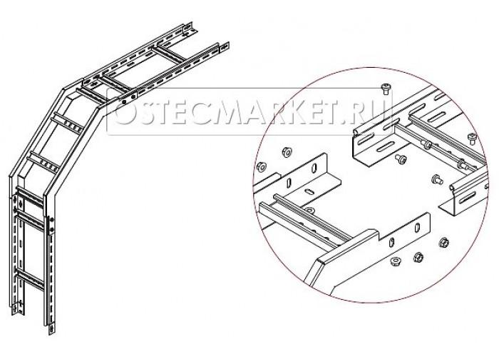 089104 Угол внешний для лестничного лотка НЛО 400х100 УВНЛО-400x100