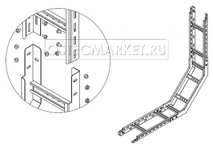 089045 Угол внутренний для лестничного лотка НЛО 400х50 УВННЛО-400х50