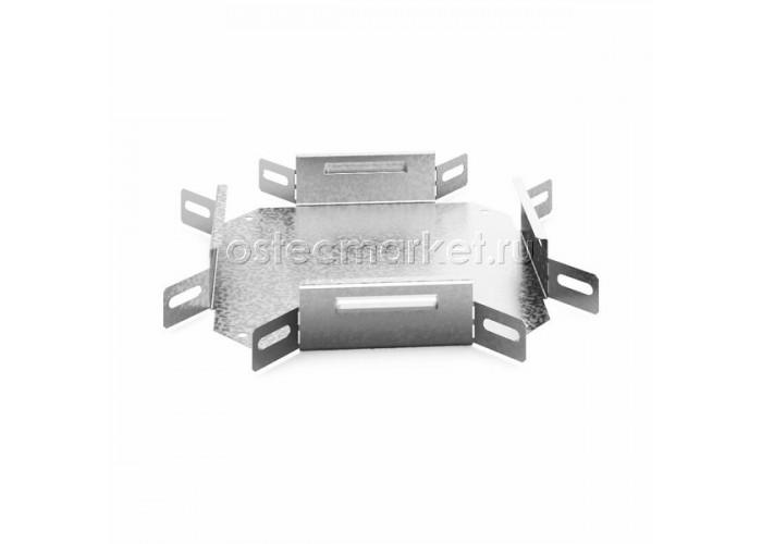 032455 Угловой соединитель крестообразный к лотку 50х50 УСХ-50х50