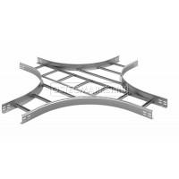 Крестообразный разветвитель для лестничного лотка НЛО 400х50х3000 (радиус поворота 600 мм)