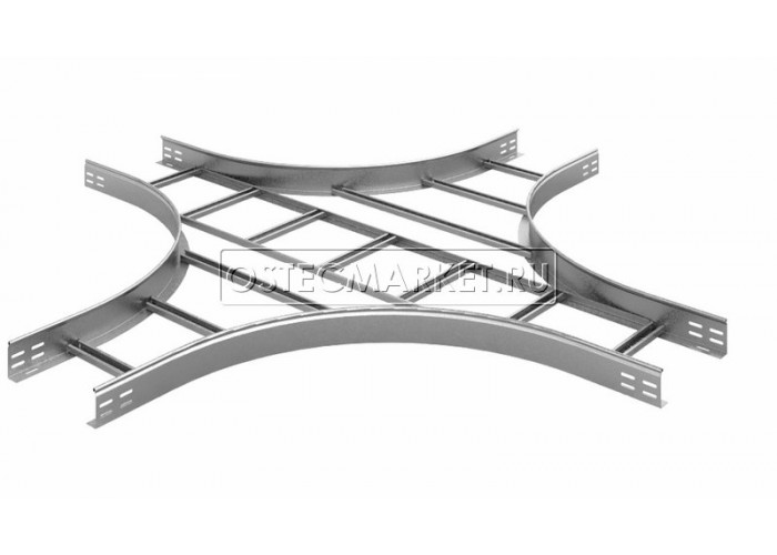 035938 Крестообразный разветвитель для лестничного лотка НЛО 300х80х3000 (радиус поворота 600 мм) ХЛНЛО 300х80-600