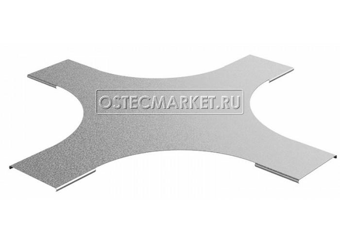 023946 Крышка к крестообразному разветвителю для лестничного лотка НЛО 400 (радиус поворота 600 мм) КХЛНЛО-400-600