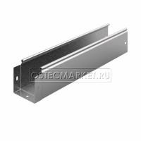 Металлический лоток неперфорированный 100х100х3000 (0,8 мм)