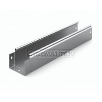 Металлический лоток неперфорированный 100х80х3000 (0,8 мм)