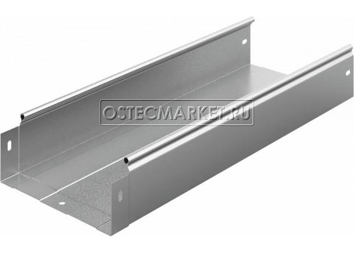 012283 Металлический лоток неперфорированный 200х80х2500 ЛНМЗТ(М)-200x80пр