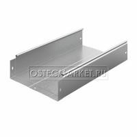 Металлический лоток неперфорированный 300х100х3000 (0,8 мм)