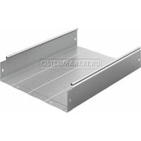 Металлический лоток неперфорированный 400х100х3000 (1 мм)