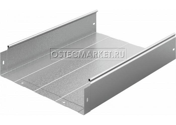 012413 Металлический лоток неперфорированный 400х100х2500 ЛНМЗТ(М)-400x100пр