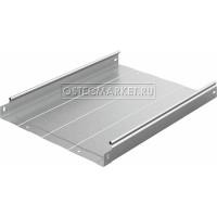 Металлический лоток неперфорированный 400х50х3000 (1 мм)