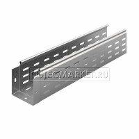 Металлический лоток перфорированный 100х100х3000 (0,8 мм)