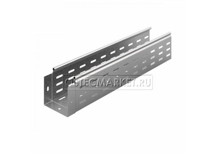 014118 Металлический лоток перфорированный 100х100х3000 (0,8 мм) ЛПМЗТ(М)-100x100x3000