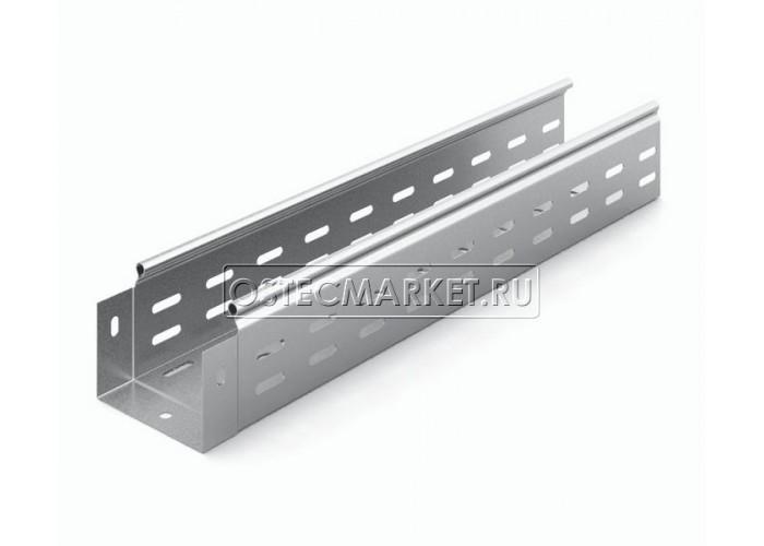014188 Металлический лоток перфорированный 100х80х3000 (0,8 мм) ЛПМЗТ(М)-100х80х3000