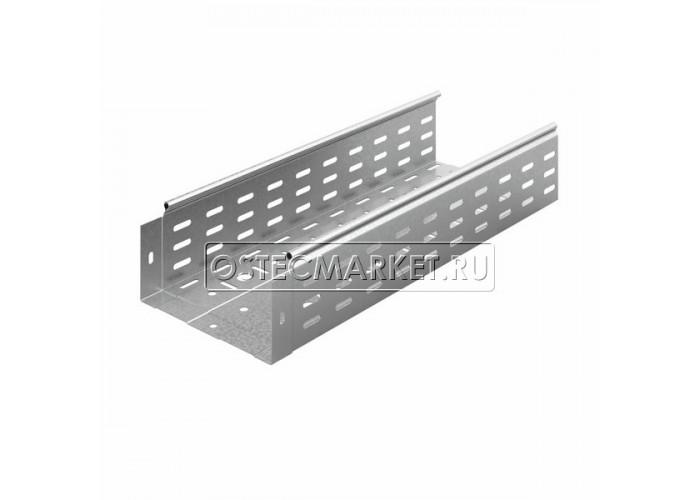 014218 Металлический лоток перфорированный 200х100х3000 (0,8 мм) ЛПМЗТ(М)-200x100x3000