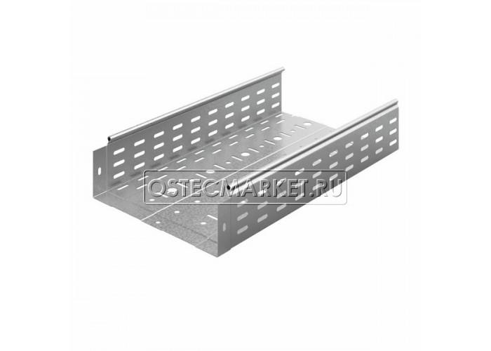 014318 Металлический лоток перфорированный 300х100х3000 (0,8 мм) ЛПМЗТ(М)-300x100x3000