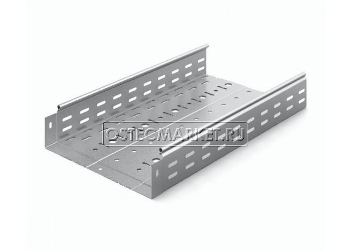 014388 Металлический лоток перфорированный 300х80х3000 (0,8 мм) ЛПМЗТ(М)-300x80x3000