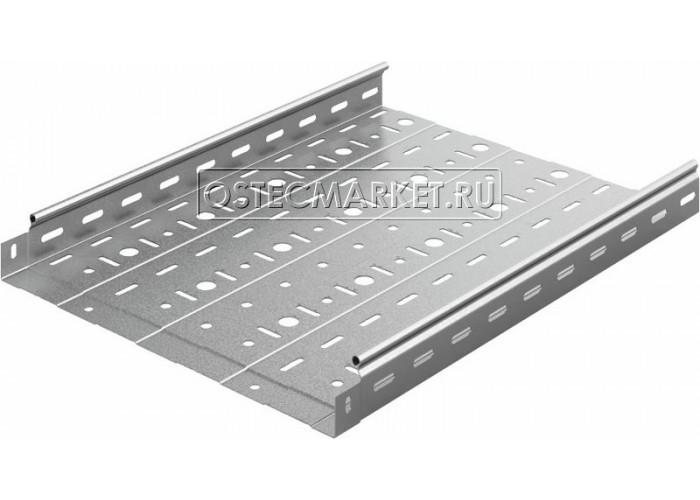 014450 Металлический лоток перфорированный 400х50х3000 (1 мм) ЛПМЗТ(М)-400x50x3000