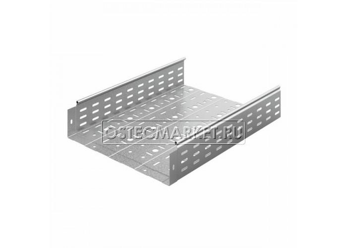014410 Металлический лоток перфорированный 400х100х3000 (1 мм) ЛПМЗТ(М)-400х100х3000
